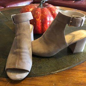 Nine West peep toe suede shoe